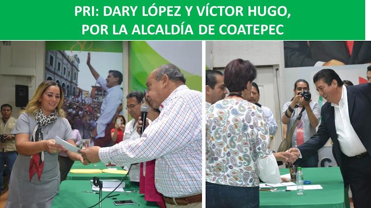 PRI: DARY LÓPEZ Y VÍCTOR HUGO, POR LA ALCALDÍA DE COATEPEC