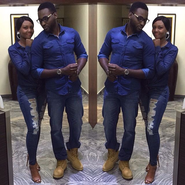 Naija Fashion Daily! Gbenro And Osas Ajibade In Matching Denim Outfits.