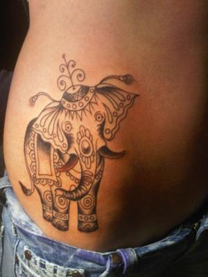 tatto elephant tattoo designs. Black Bedroom Furniture Sets. Home Design Ideas