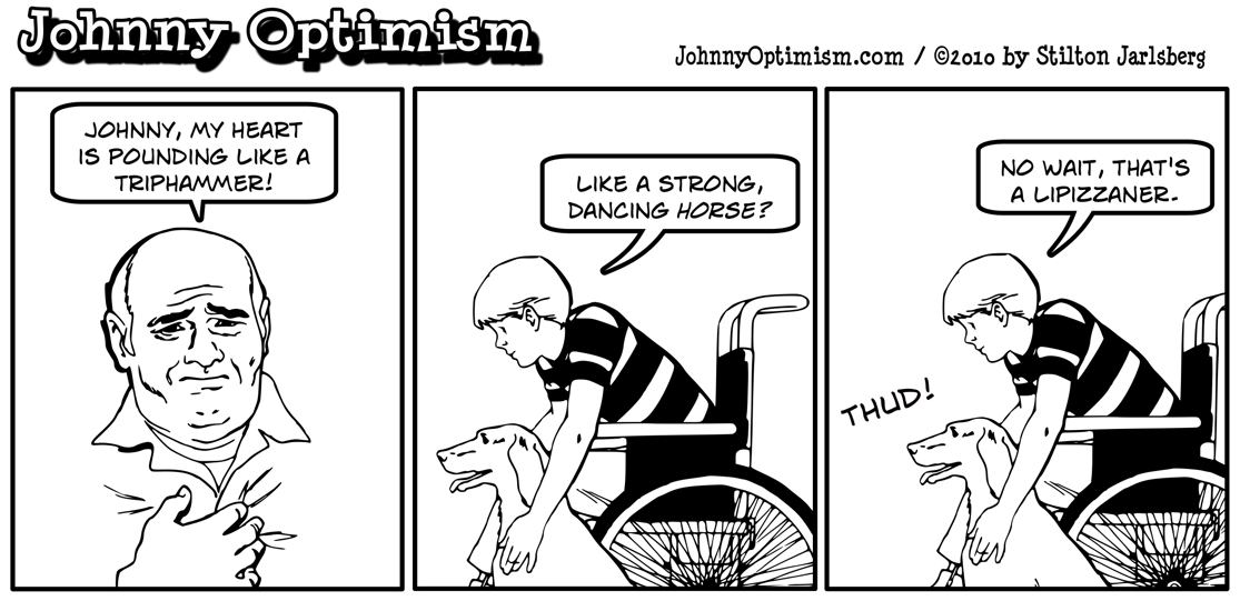 Johnny Optimism, johnnyoptimism, heart attack