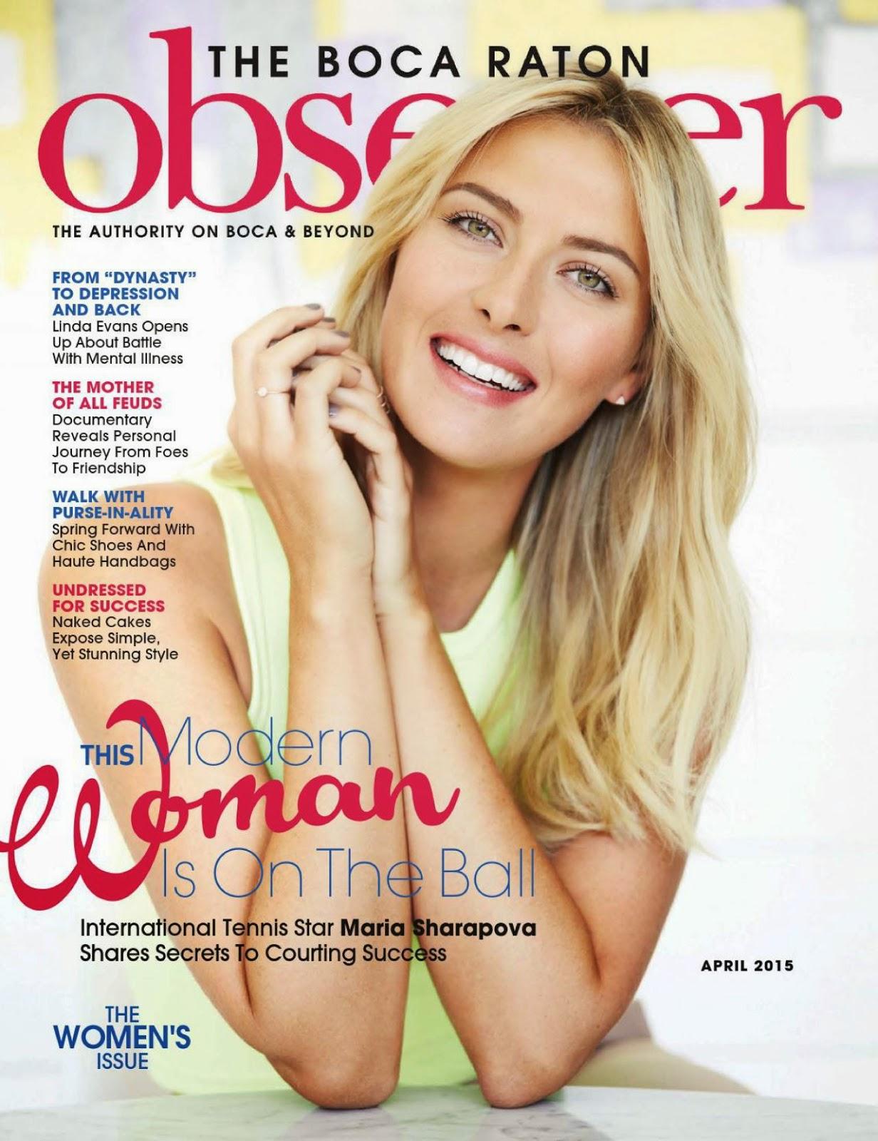 Tennis Athlete @ Maria Sharapova – Boca Raton Observer April 2015