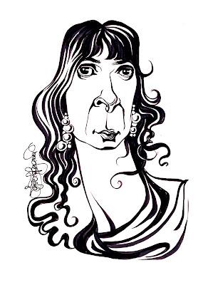 Ruxandra Cesereanu caricature