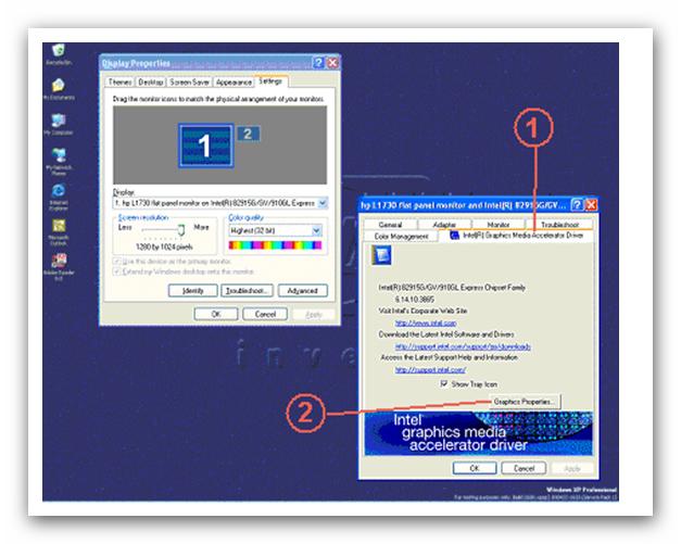 Kết quả hình ảnh cho Graphics properties, trong mục Multiple Display bạn tích vào Intel (R) Dual Display Clone → ok.