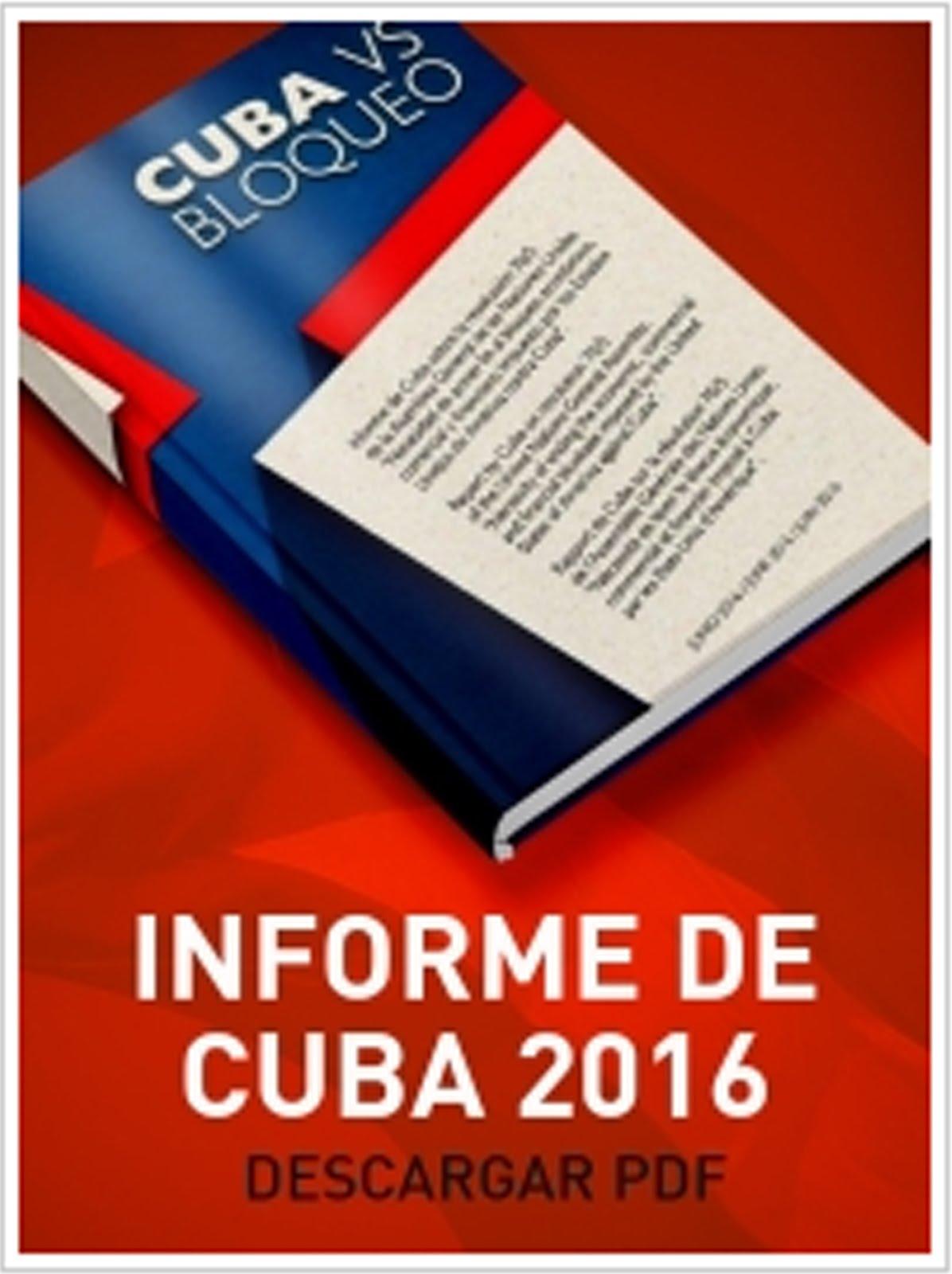 Informe de Cuba denunciando el bloqueo 2016