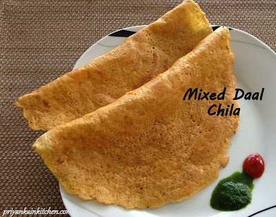 Mixed lentil crepe