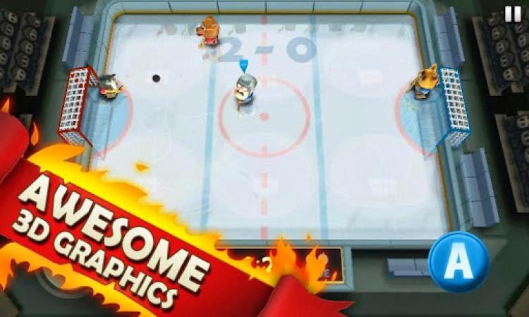 صورة من لعبة هوكي جليد علي الاندرويد Ice Rage