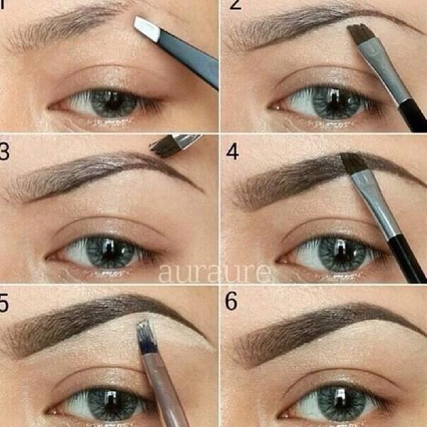 cómo maquillar las cejas