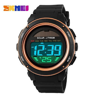 Jam Tangan SKMEI SOLAR POWER 02 Dual Time Anti air 5ATM, Rp.235.000, Kode J167