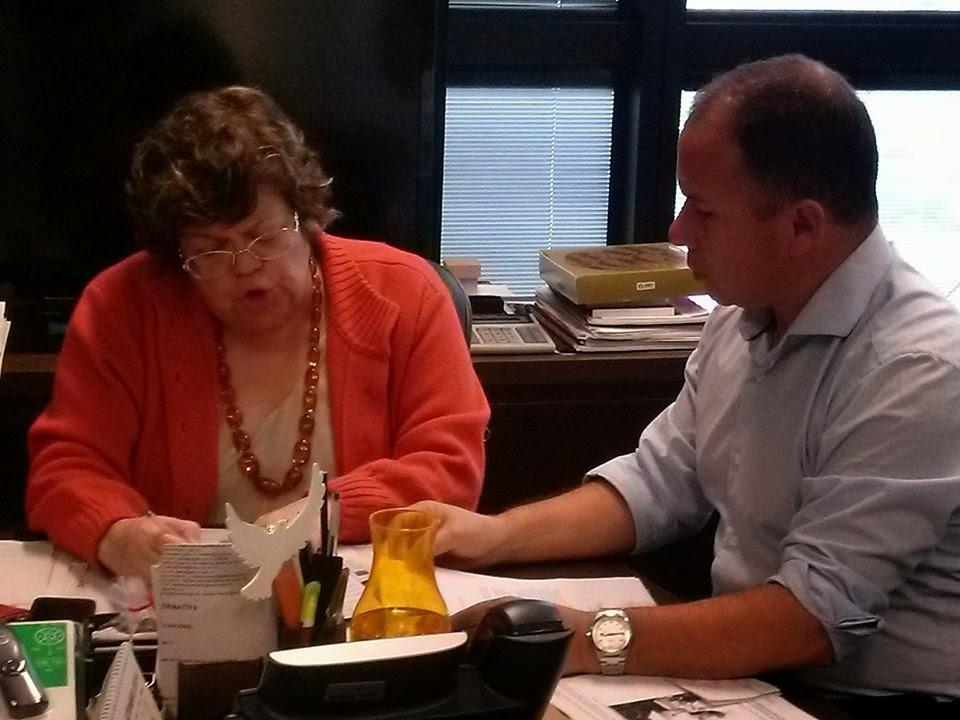 Reunião de trabalho com Ana Lúcia Gazzola, sec. Educação MG