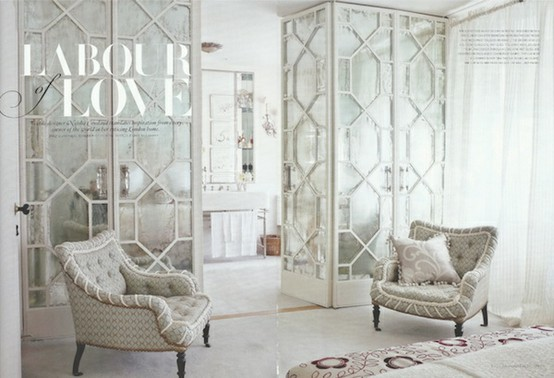 Love these doors featured in Vogue Living (Australia). Perfect for the posh London flat of wallpaper and textile designer Neisha Crosland (you can see her ... & Sybaritic Spaces: Create Fabulous Fretwork Doors