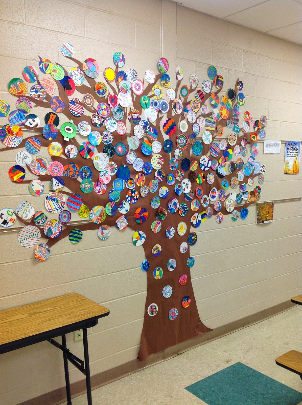 Tree of Life Student Art with Circles