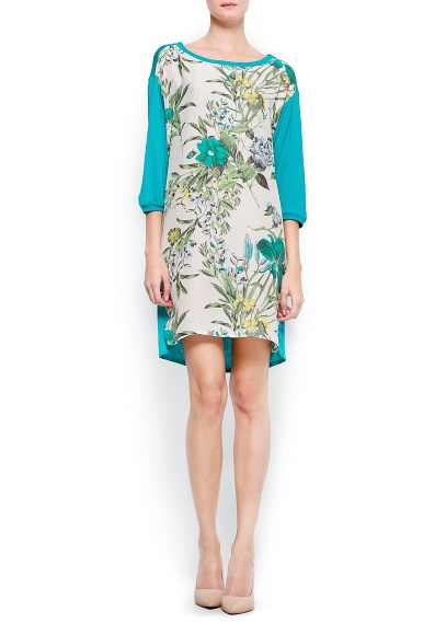 bol kesim çiçekli elbise günlük giyim