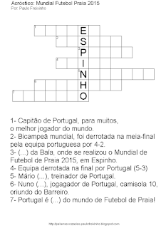 Passatempo para imprimir Por: Paulo Freixinho