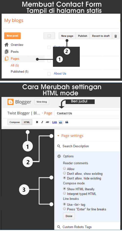Cara Membuat Contact Form Profesional di Blogger