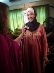 Wawa ketika di temuramah oleh TV3 utk rancangan Nona dan Mahligai Cinta