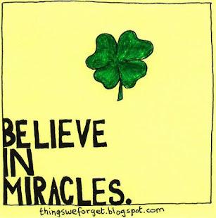 Eu acredito ...