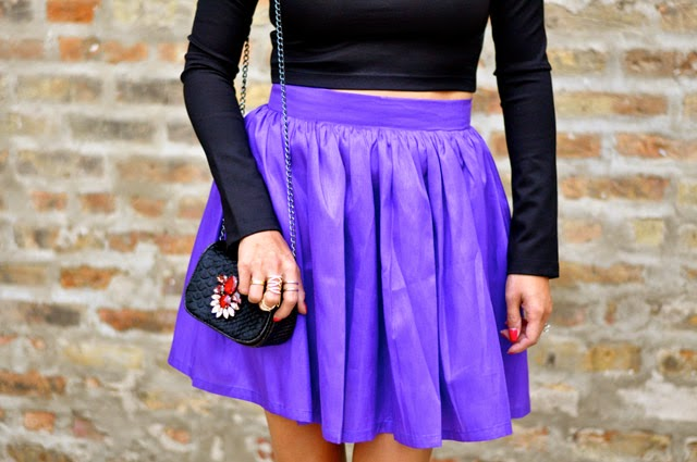 Purple Party Skirt Black t+j Designs crystal clutch