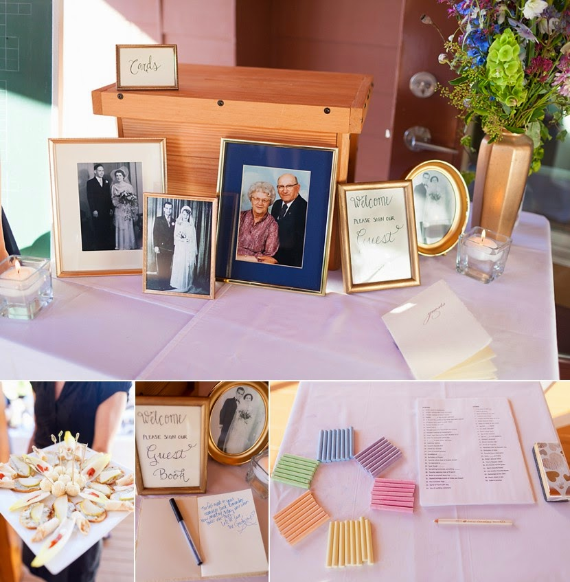 remembrance table wedding photo