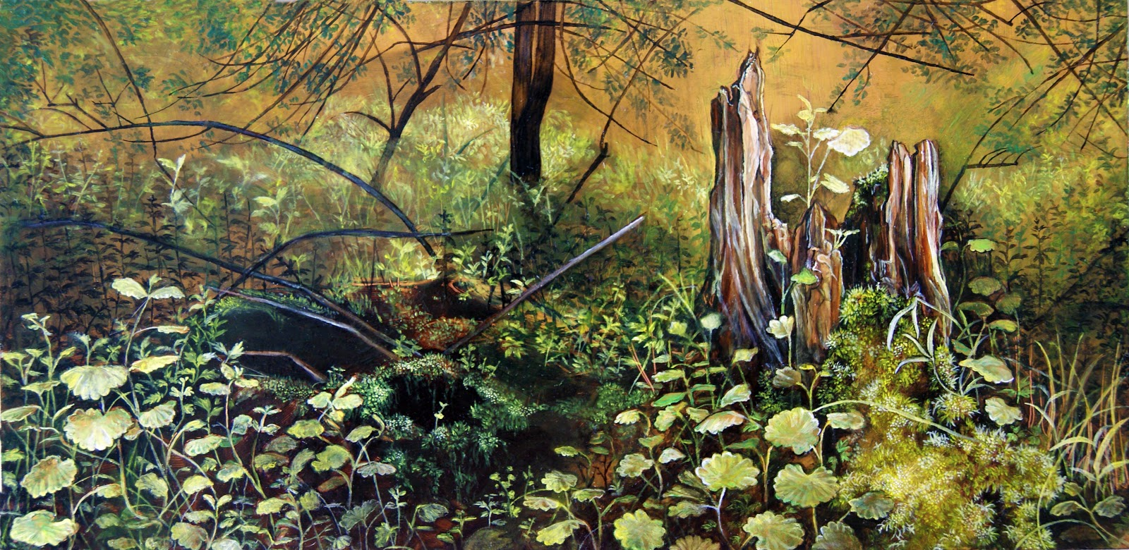 Painting Forest Floor Forest Floor With Stump 2012