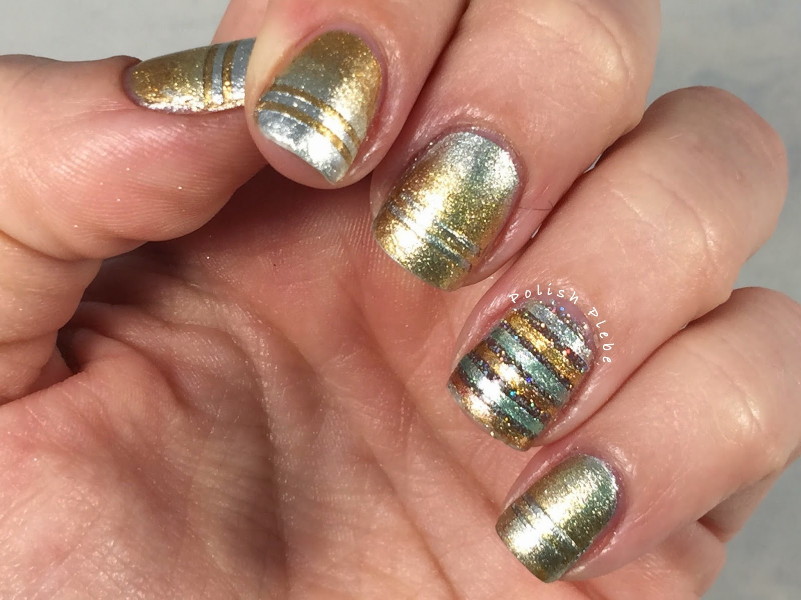Nails Art: Silver and Gold Nail Art