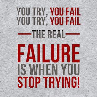 ¿Qué es fracasar?