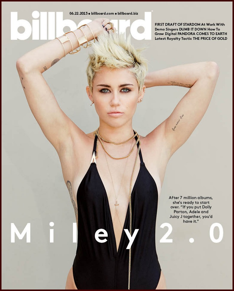 Miley Cyrus on Cover for Billboard June 2013