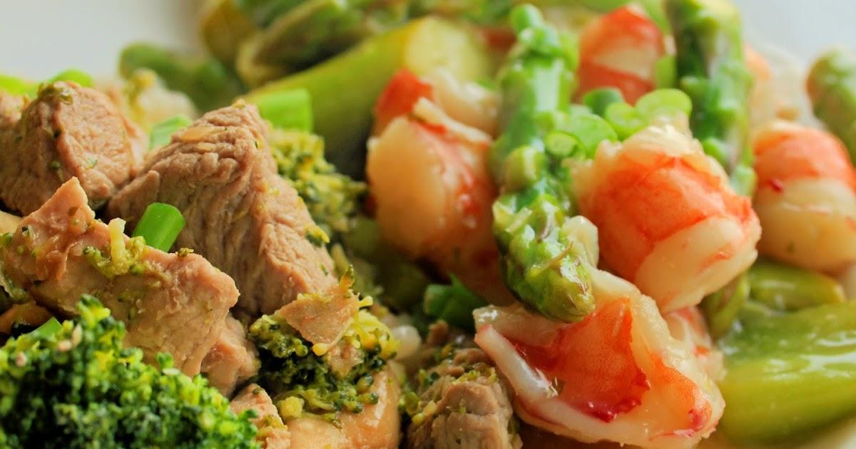 Jo and Sue: Shrimp & Asparagus with Pork & Broccoli Stir Fry on ...