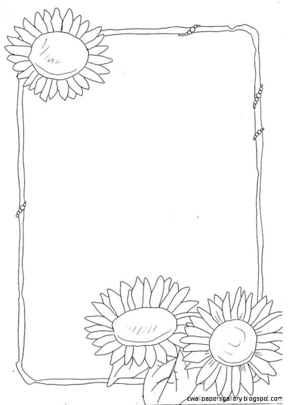 sunflower border by  of Pavlov on DeviantArt
