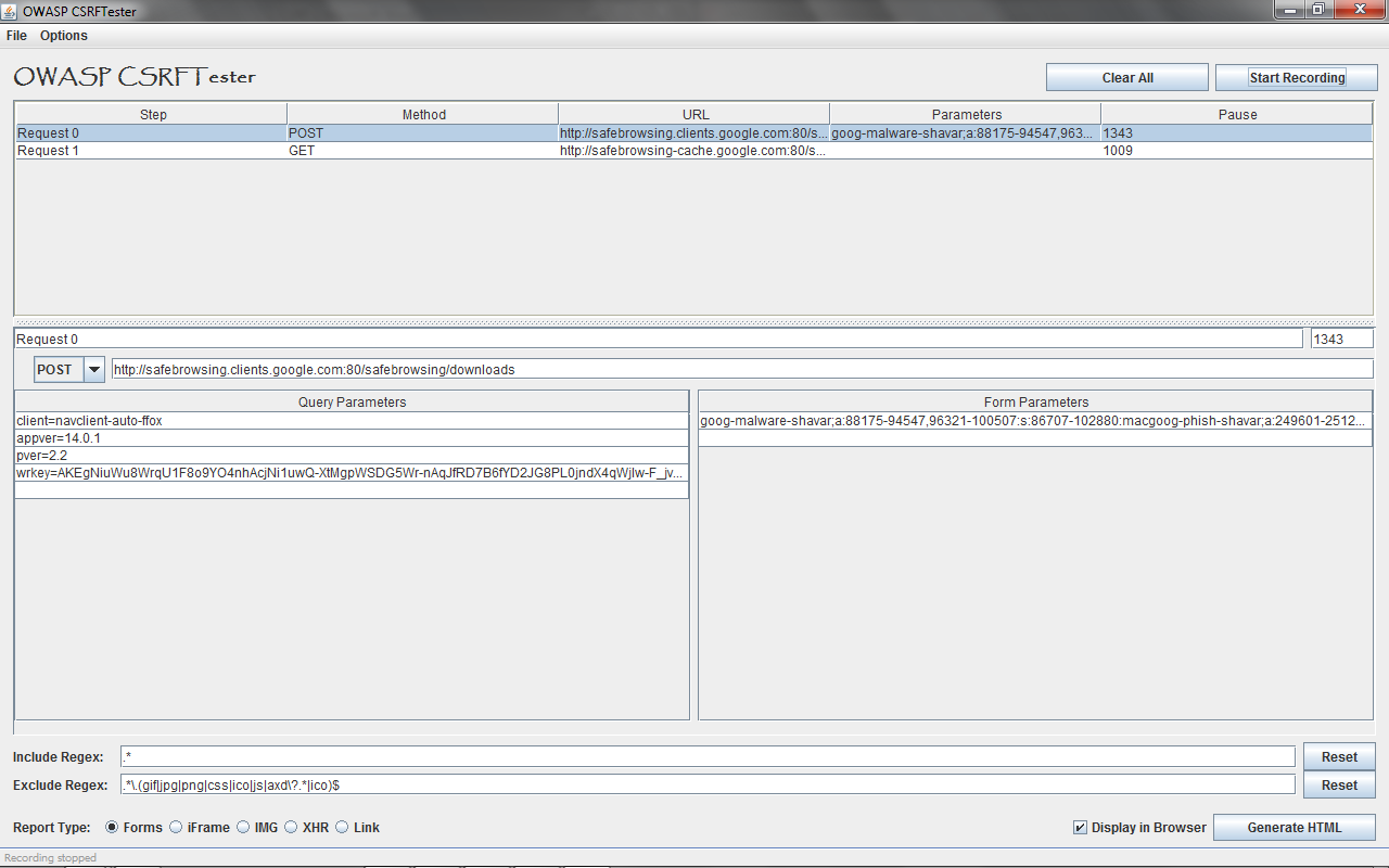 CSRFTester (CSRF Vulnerability Tester) :: Tools | The