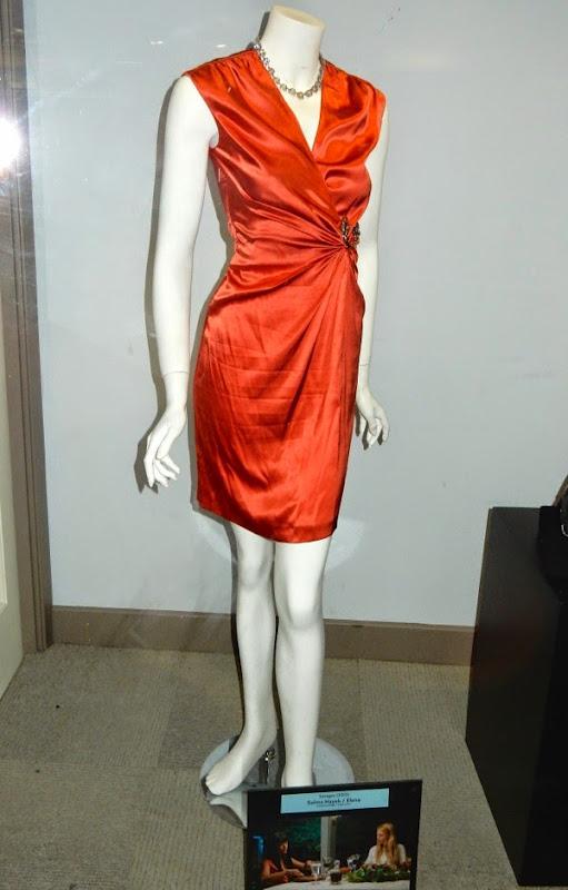 Salma Hayek Savages orange movie dress