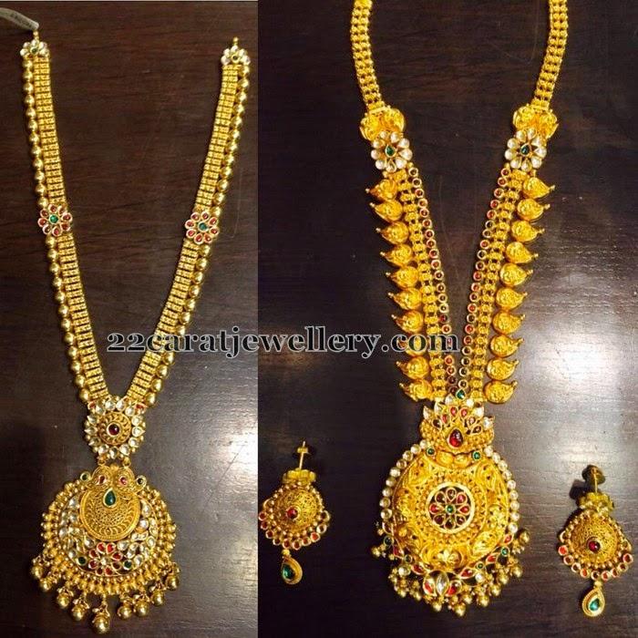 Antique Floral Long Chains - Jewellery Designs