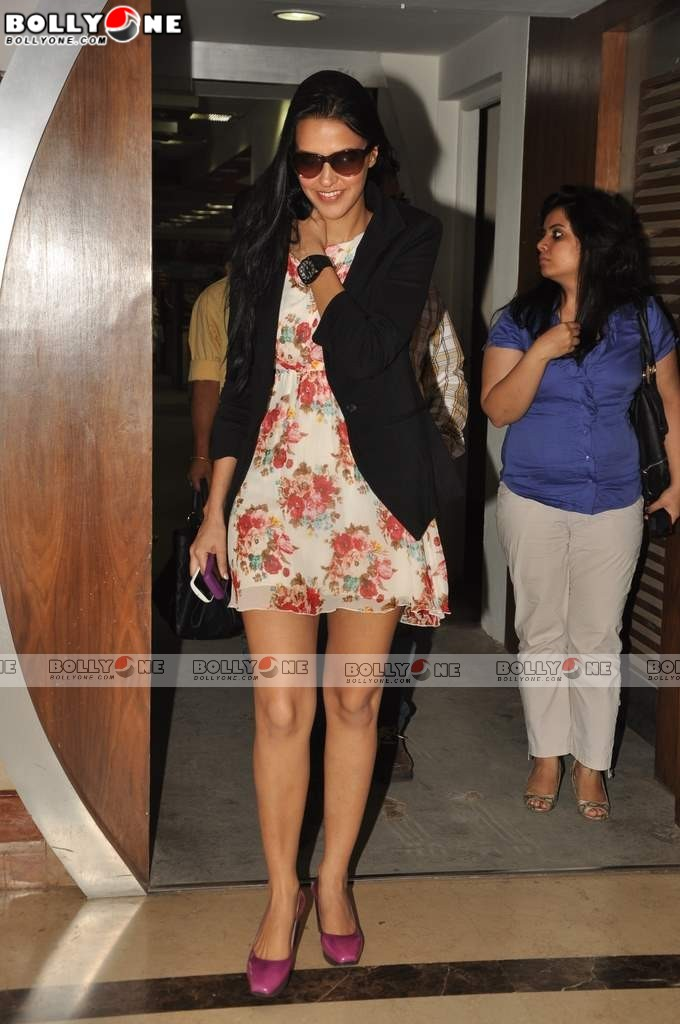 Neha Dhupia At Radio City to Promote Gandhi to Hitler Movie