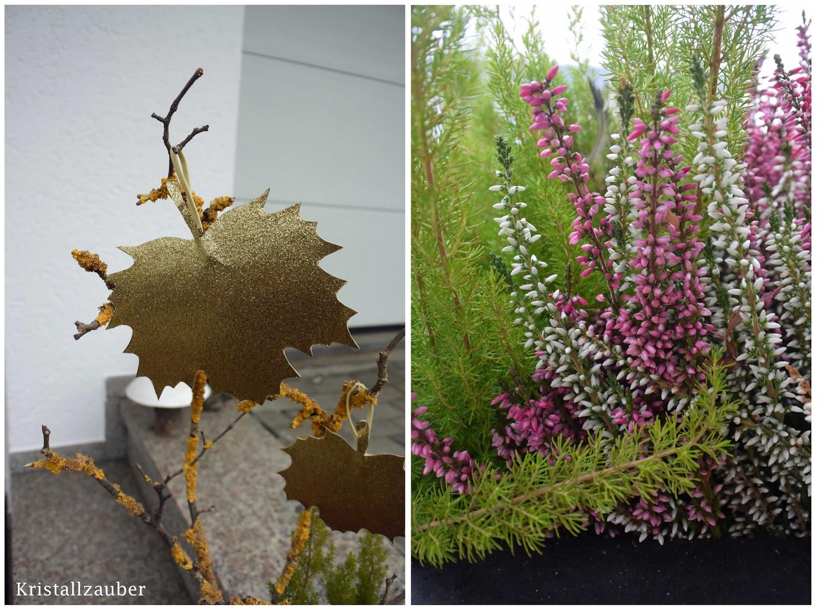 Kristallzauber diy goldene herbstbl tter f r innen und for Herbstdeko fur innen