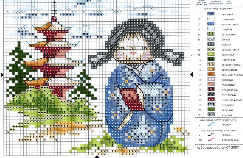 Схемы вышивки крестом схемы китайские мотивы 87