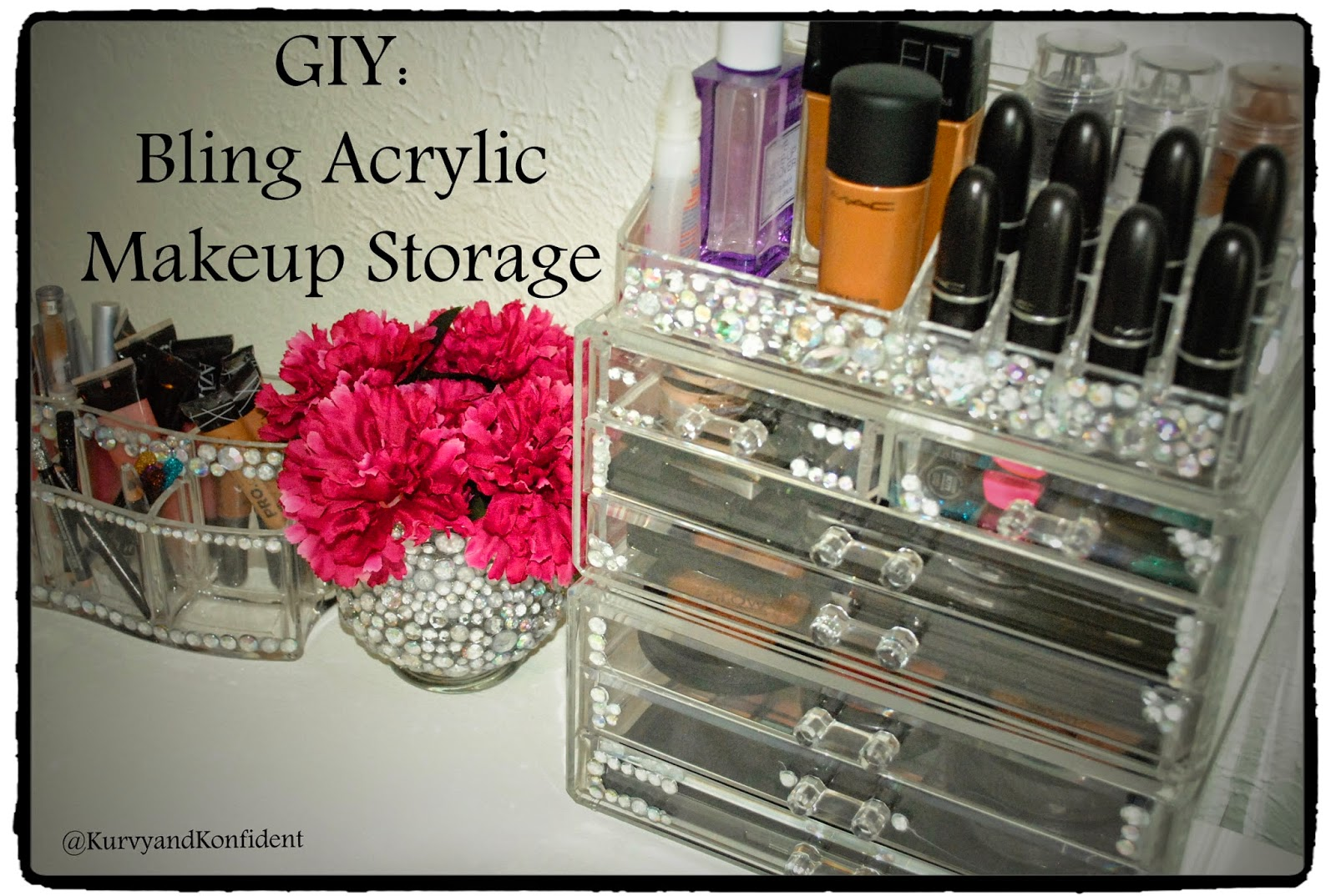 Kurvy konfident giy bling acrylic makeup storage in an effort to personalize my she space i have been doing a lot of diys do it yourself and giys glam it yourself again my money is very tight solutioingenieria Choice Image