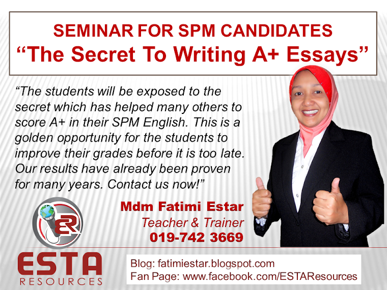 SEMINAR BY ESTA RESOURCES.