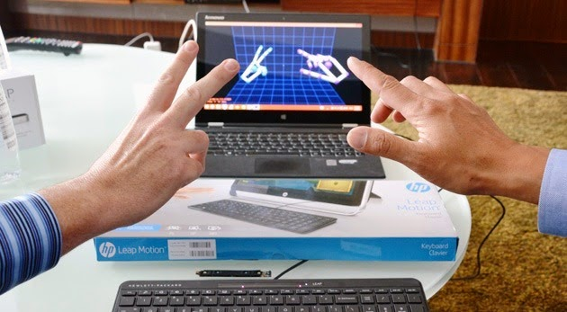 новые возможности клавиатуры HP Leap Motion Keyboard