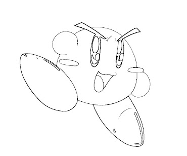 #16 Kirby Coloring Page