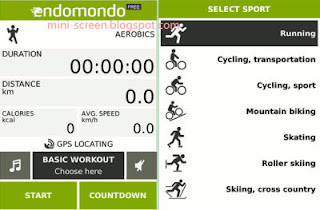 Free Endomondo Workout Applications for BB Interface