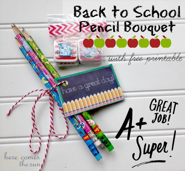 Back to School Pencil Bouquet with Free Printable