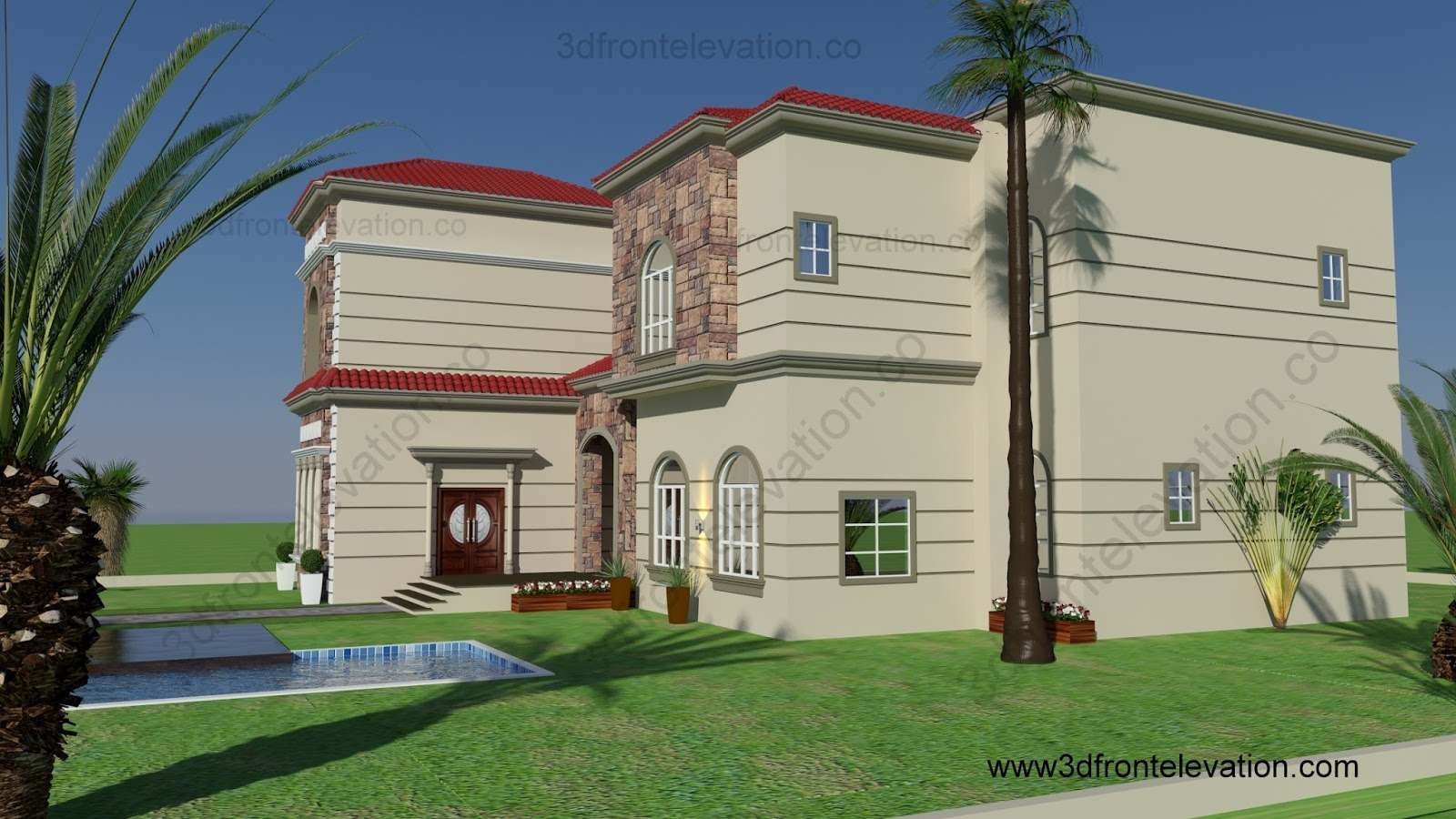 3d Front Elevation Of Houses In Dubai : D front elevation dubai