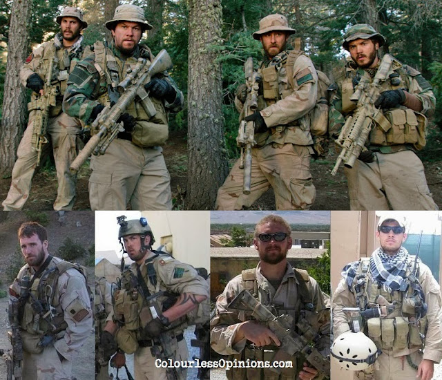 Movie Lone Survivor vs. Real Lone Survivor - Navy SEAL team 10 operation red wings - still picture