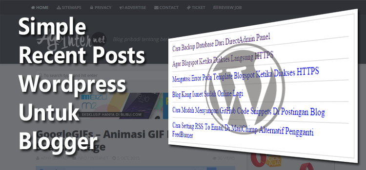 Simple Recent Posts Wordpress Widget Untuk Blogger