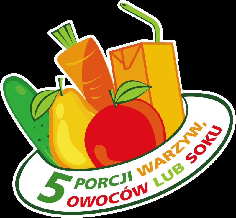Znalezione obrazy dla zapytania 5 porcji warzyw i owoców logo