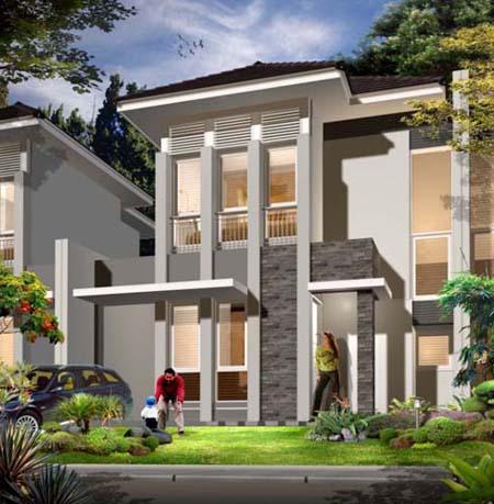 Model Rumah Modern terbaru lantai 2