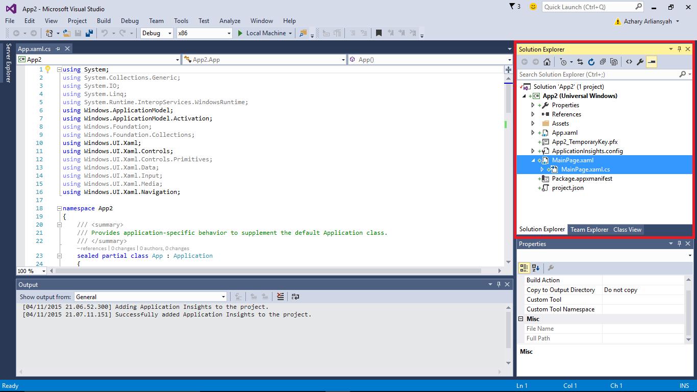 Visual Studio Designer Cs