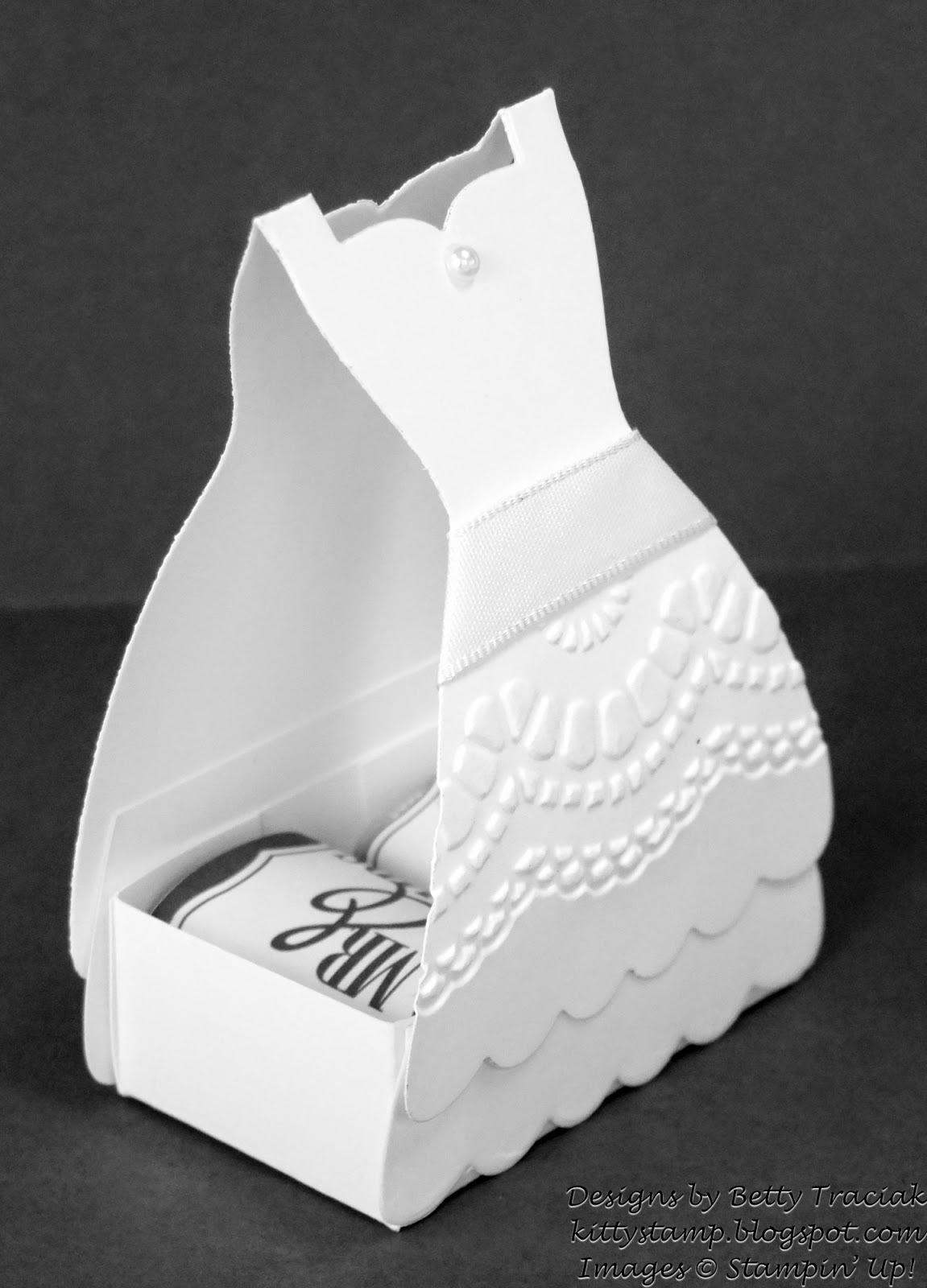 Kitty Stamp: Dress Up Bridal Shower Favors