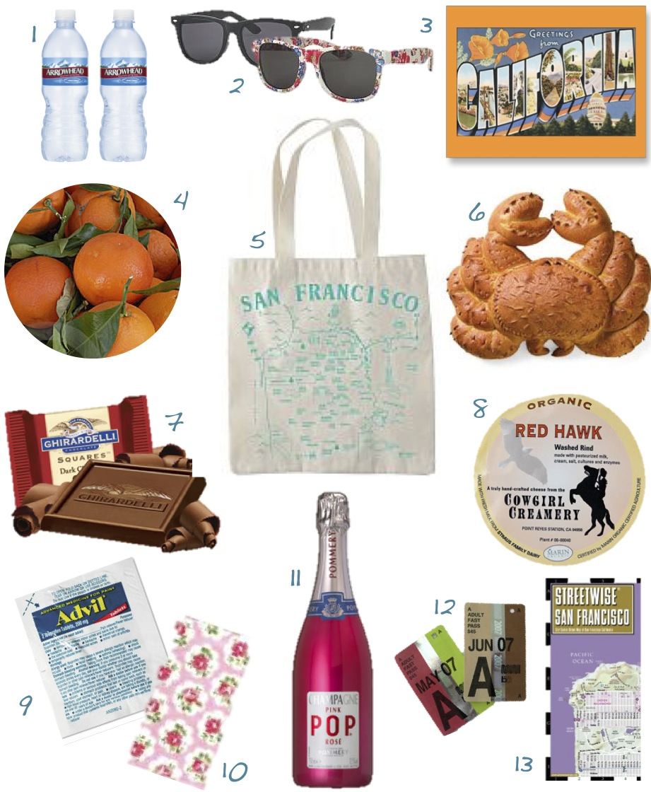 Wedding Guest Gift Bags Uk : ... food + party + style: WEDDING WEDNESDAYS: GUEST BAGS SAN FRANCISCO