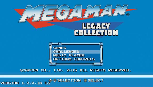 Mega Man Legacy Collection title screen E3 2015 intro