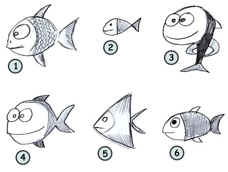 Funny fish drawing funny animal for How to draw fish